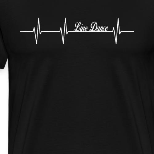 Line Dance Shirt - Linedance Country Cowboy Tanzen - Männer Premium T-Shirt