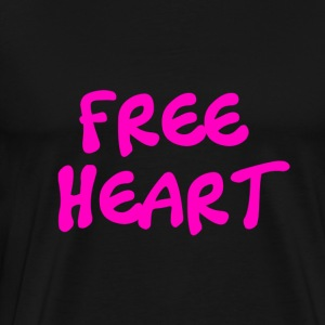 FREE HEART PINK - T-shirt Premium Homme
