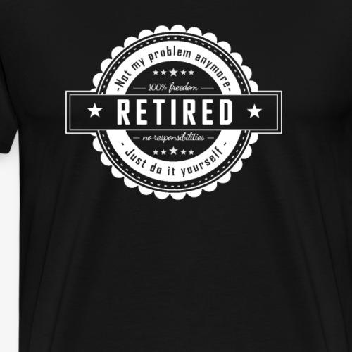 Retired - Männer Premium T-Shirt