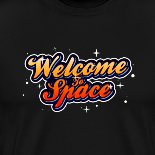 Colorful Welcome To Space Logo - Premium T-skjorte for menn