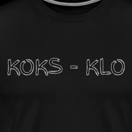 Das Klo wird zum Koksen genutzt - Männer Premium T-Shirt