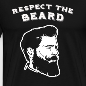 Respect the beard! - Männer Premium T-Shirt