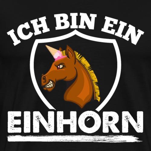 Einhorn Pferd - Männer Premium T-Shirt