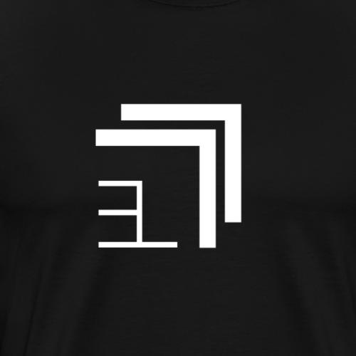 Edgelord Logo (White) - Männer Premium T-Shirt