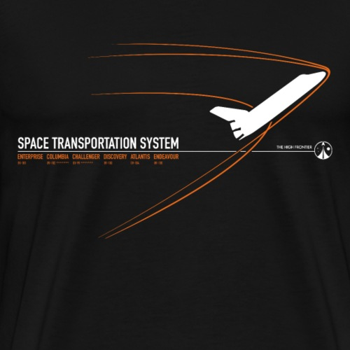 Space Shuttle (Orange print) - Men's Premium T-Shirt
