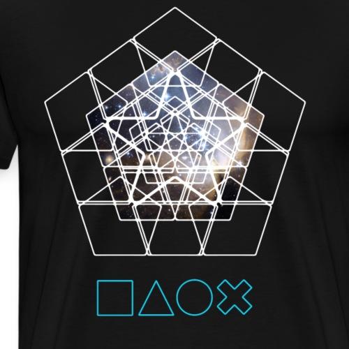 Play Station Nerd Gamer Space cpu pc Pyramide kont - Männer Premium T-Shirt