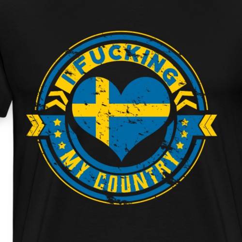 I love my country Sweden perfect gift - Männer Premium T-Shirt
