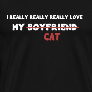 I love my cat - T-shirt Premium Homme