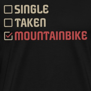 Single Genomen Mountainbike - Mannen Premium T-shirt