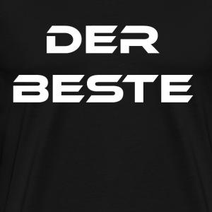 Der Beste weiss - Männer Premium T-Shirt