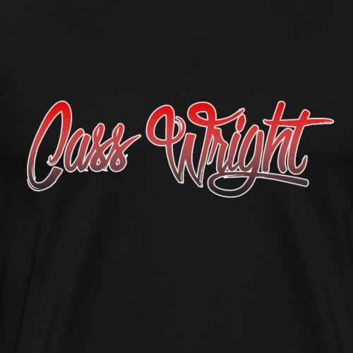cass wright red faded font - Men's Premium T-Shirt