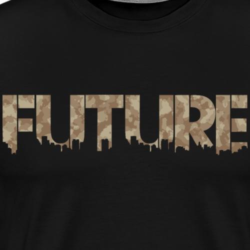 Future Desert Camouflage - Herre premium T-shirt
