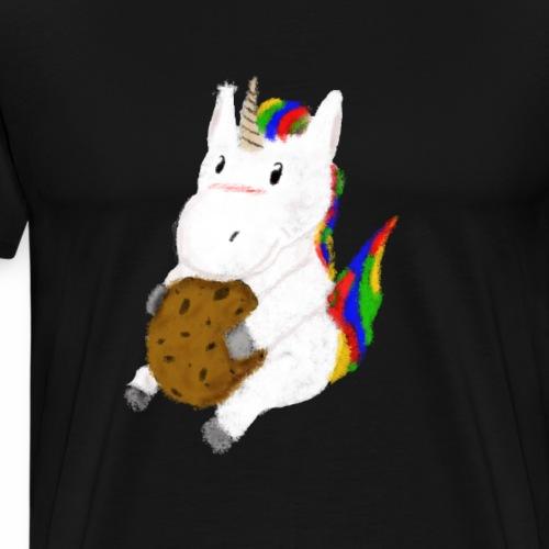 Einhorn Cookie - Männer Premium T-Shirt