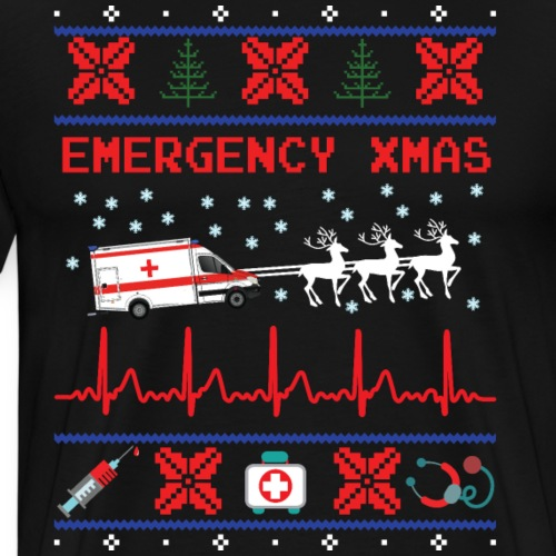 Ermergency Xmas - Männer Premium T-Shirt