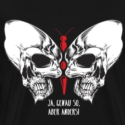 Skull Schmetterling - Männer Premium T-Shirt