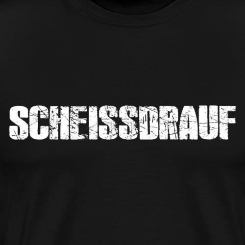 Scheissdrauf Logo White - Männer Premium T-Shirt