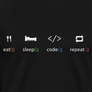 Eat Sleep Repeat-Code - Männer Premium T-Shirt