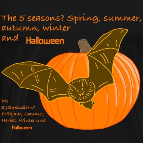 Halloween und die Jahreszeiten auf Englisch - Männer Premium T-Shirt