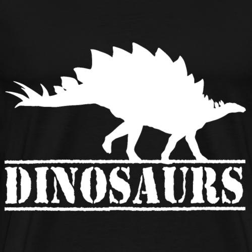 Stegosaurus Dino Silhouette - Männer Premium T-Shirt