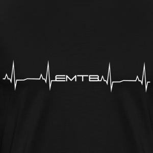 EMTB Heartbeat - White - Men's Premium T-Shirt