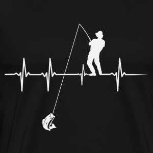 Heartbeat Angler - Men's Premium T-Shirt
