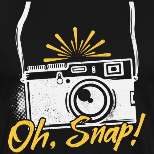 Oh Snap Funny Photography - kamera - Männer Premium T-Shirt