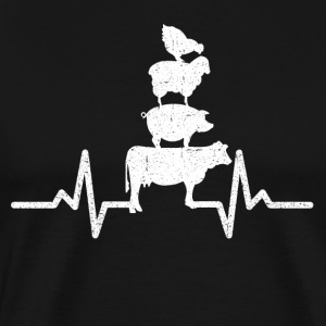 My heart beats for animals! - Men's Premium T-Shirt