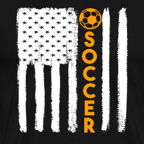 Soccer USA Flag Grunge Style - Männer Premium T-Shirt