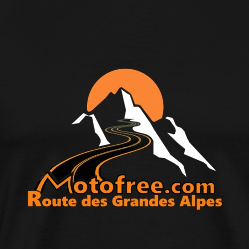 logo motofree orange - T-shirt Premium Homme