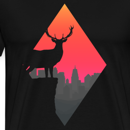 Sunset Deer - Men's Premium T-Shirt