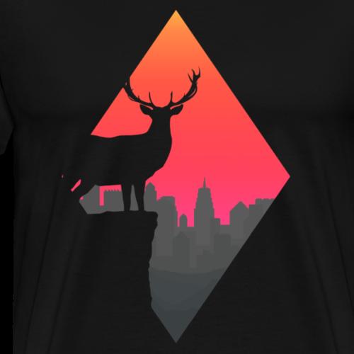 Sunset Deer - Men's Premium T-Shirt
