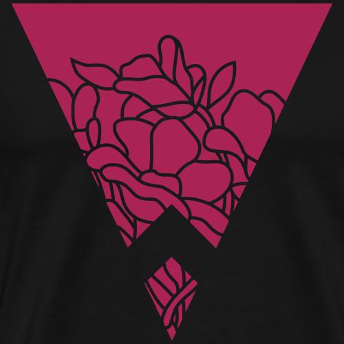 flower triangle in negative - Men's Premium T-Shirt