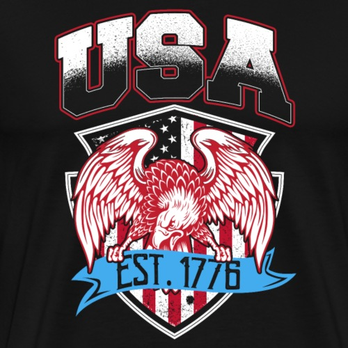 USA Established 1776 - Männer Premium T-Shirt