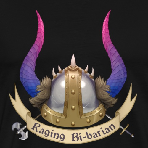 Raging Bi-Barian - Men's Premium T-Shirt