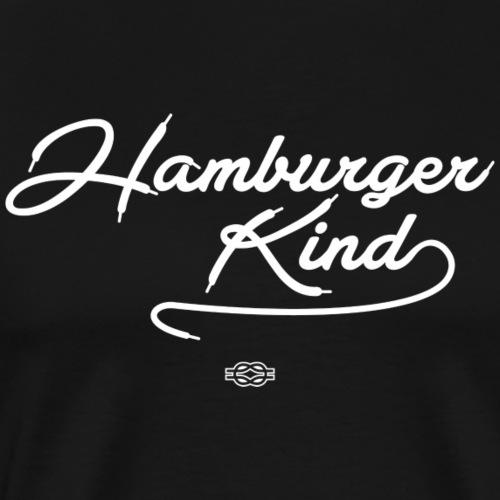 Hamburger Kind (weiß) - Männer Premium T-Shirt