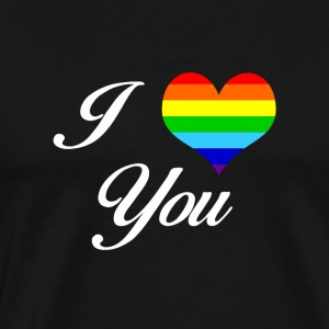 LGBT I LOVE YOU - Herre premium T-shirt
