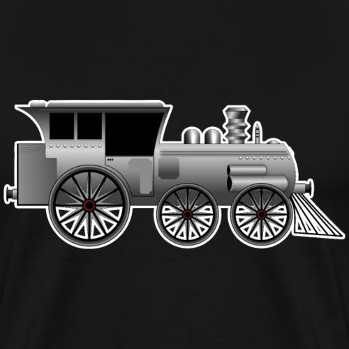 Zug Lokomotive Steampunk - Männer Premium T-Shirt