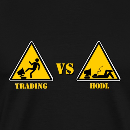 HODL vs TRADING - Men's Premium T-Shirt