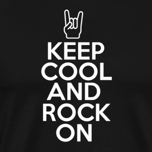 Hold Cool og Rock on - Musikk Passion - Premium T-skjorte for menn