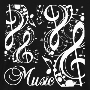 Music Notes - Musikk Passion - Premium T-skjorte for menn