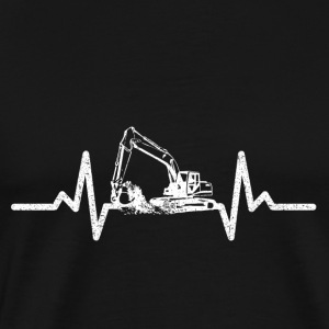 My heart beats for excavators! - Men's Premium T-Shirt