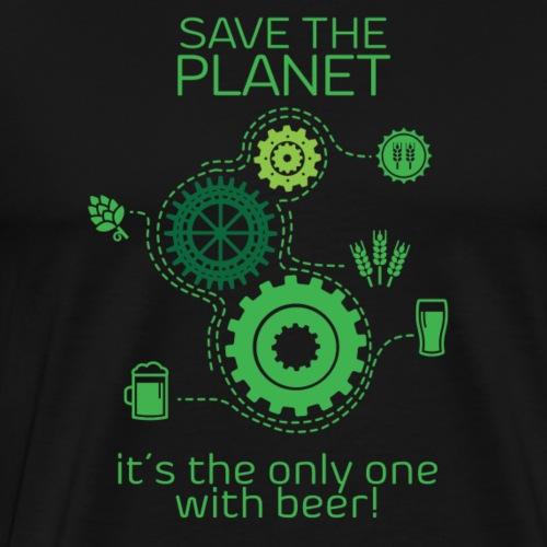 Save the planet - Maglietta Premium da uomo