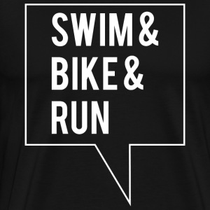 Swim Bike Run - White Edition - Men's Premium T-Shirt