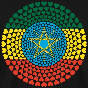 Ethiopia Ethiopia ኢትዮጵያ Love heart mandala - Men's Premium T-Shirt