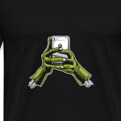 Zombie Phone - Männer Premium T-Shirt