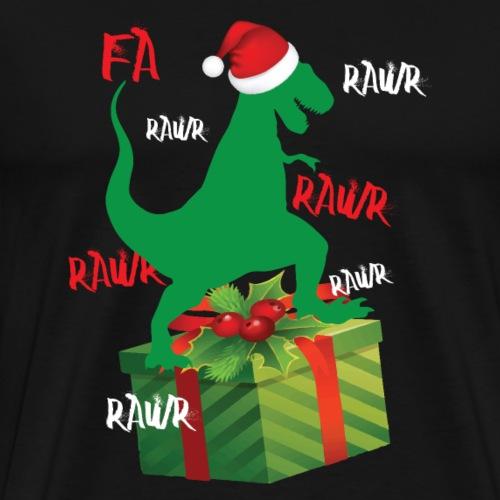 Dinosaurier bringt die Weihnachtsgeschenke - Männer Premium T-Shirt