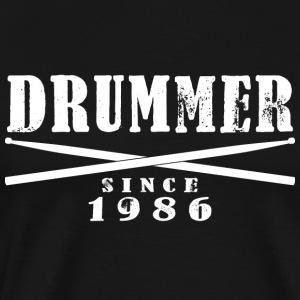 Schlagzeuger T-Shirt - Drummer Since 1986 - Männer Premium T-Shirt