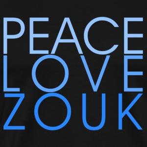 Peace Love Zouk - blue - Danceshirt - Männer Premium T-Shirt