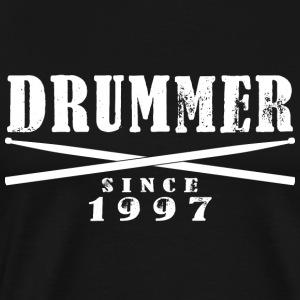 Schlagzeuger T-Shirt - Drummer Since 1997 - Männer Premium T-Shirt