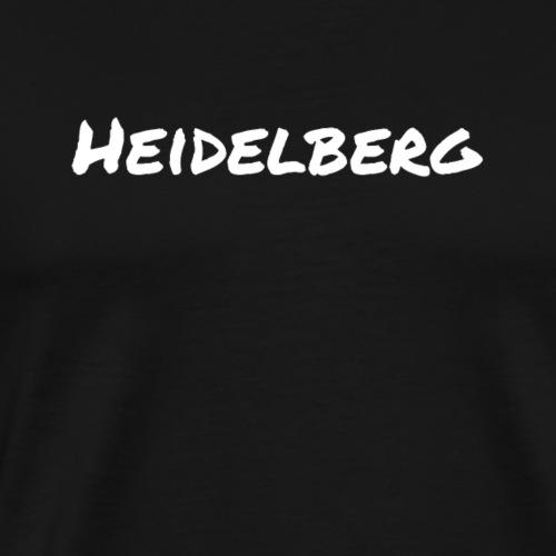 Heidelberg (Permanent Marker/weiß) - Männer Premium T-Shirt